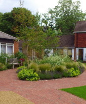Care home garden Directional path