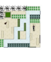 Plan of Urban garden Courtyard