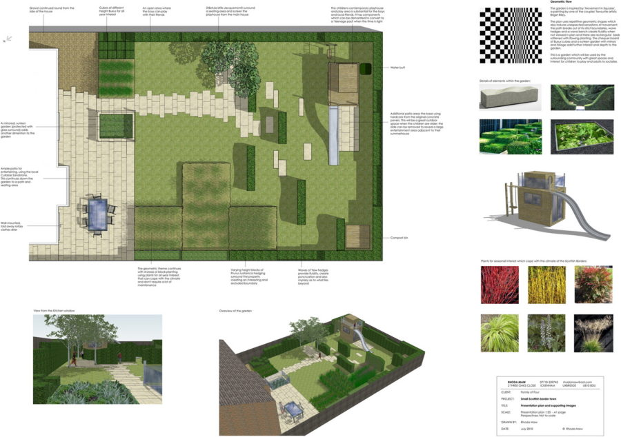 Garden Design Mood Board family garden-low maintenance gardens-by rhoda maw garden design