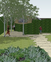 3D design for Low maintenance gardens