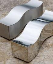 Wave benches for an Urban garden