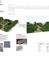Bespoke gardens such as a Castle knot garden design here