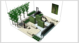 Executive courtyard urban garden design West London