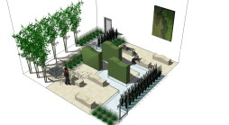 Garden design West London Courtyard