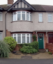 Small front garden-Garden Ruislip before Rhoda Maw re-designed