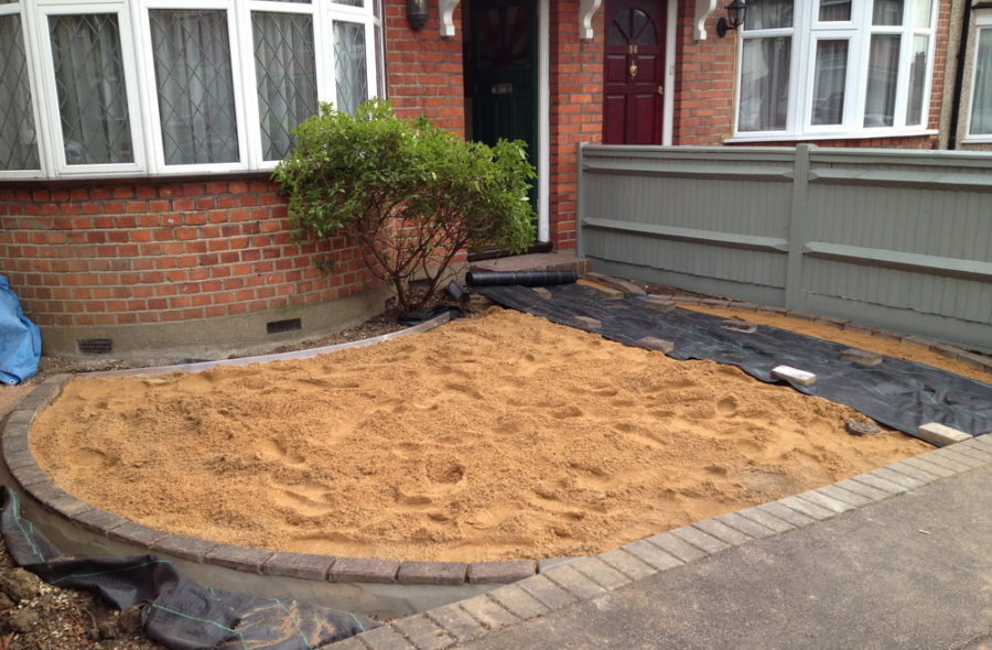 Ruislip small Front Garden under construction