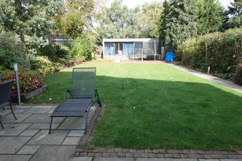 Garden in Ickenham before Rhoda Maw used small garden design ideas