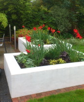 Small garden design-Raised beds by Rhoda Maw