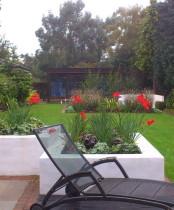 Small garden design in Raised beds