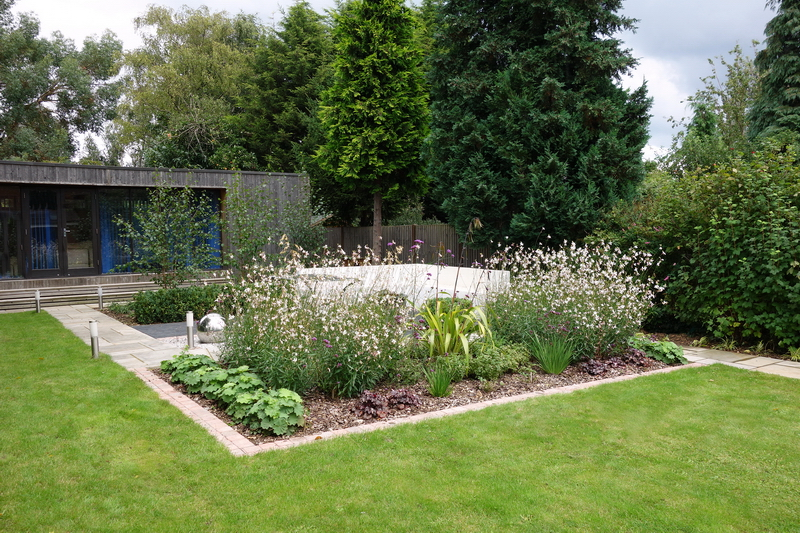 small garden design - in small border