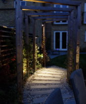 Garden lighting - Path illuminated for saftety