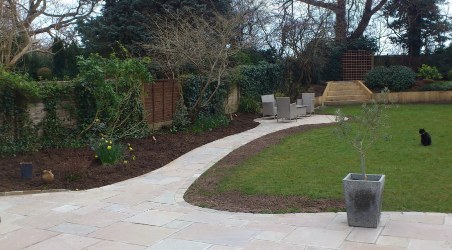 Empty borders in this Pinner garden make it uninteresting and dull