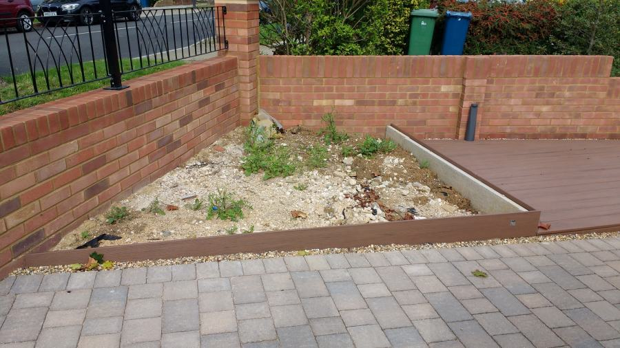 pebble garden before any work done to it