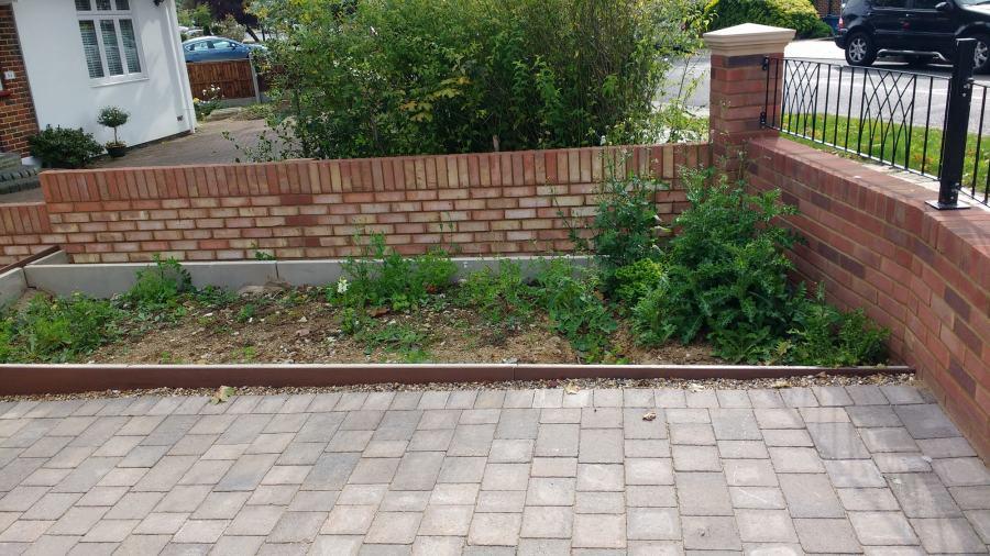 pebble garden before any work by Rhoda Maw Garden design