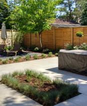 Minimalist Garden with minimal planting