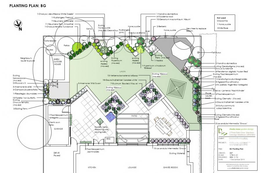 wide shallow garden planting plan