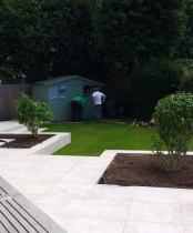 wide shallow garden during build