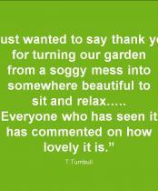 Testimonial for Medium garden design ideas
