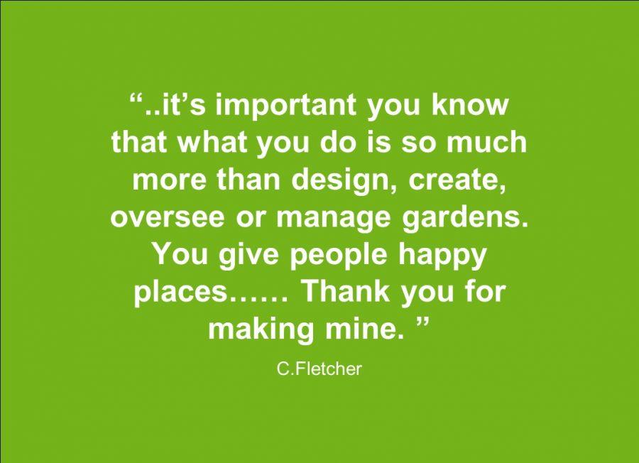 Testimonial Minimalist Garden